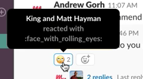 see who reacted in slack