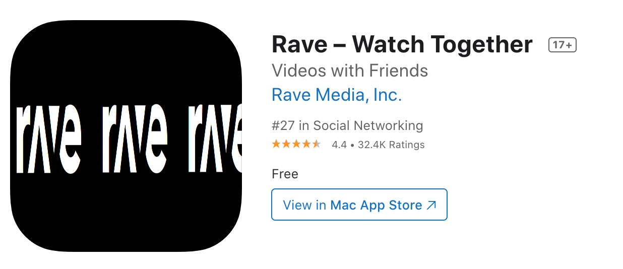 Rave app overview